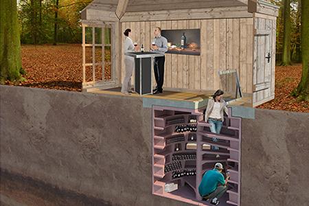 Provinum wijnkelders bv helicave - Moderne wijnkelder ...